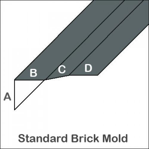 Aluminum Brick Mold Without Return Trim Bender