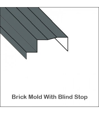 Aluminum Brick Mold with Full Blind Stop