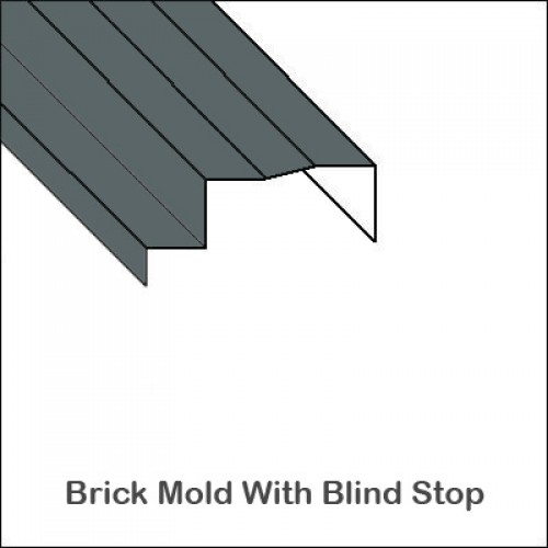 Aluminum Brick Mold With Full Blind Stop Trim Bender