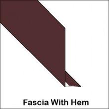 Aluminum Fascia Hemmed