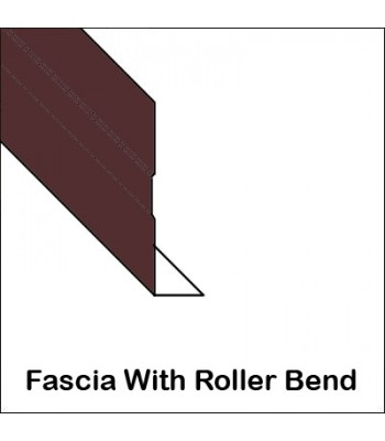 Aluminum Fascia With Roller Bend