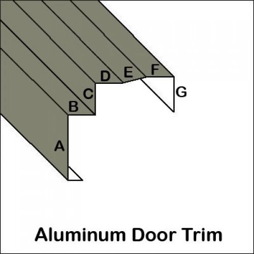 ... Aluminum Door Trim with lip