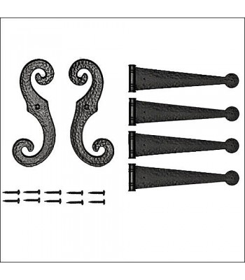 Decorative Vinyl Shutter Hinges