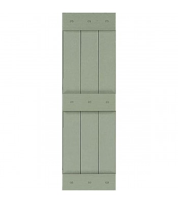 Closed Board-n-Batten Shutter