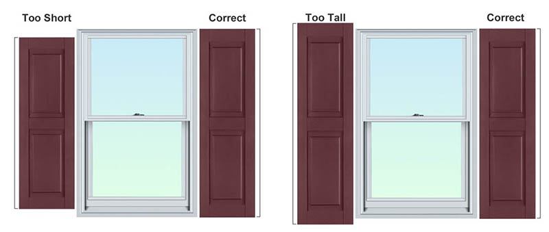 Be Sure To Measure Every Window Before Placing Your Order For Exterior  Shutters.